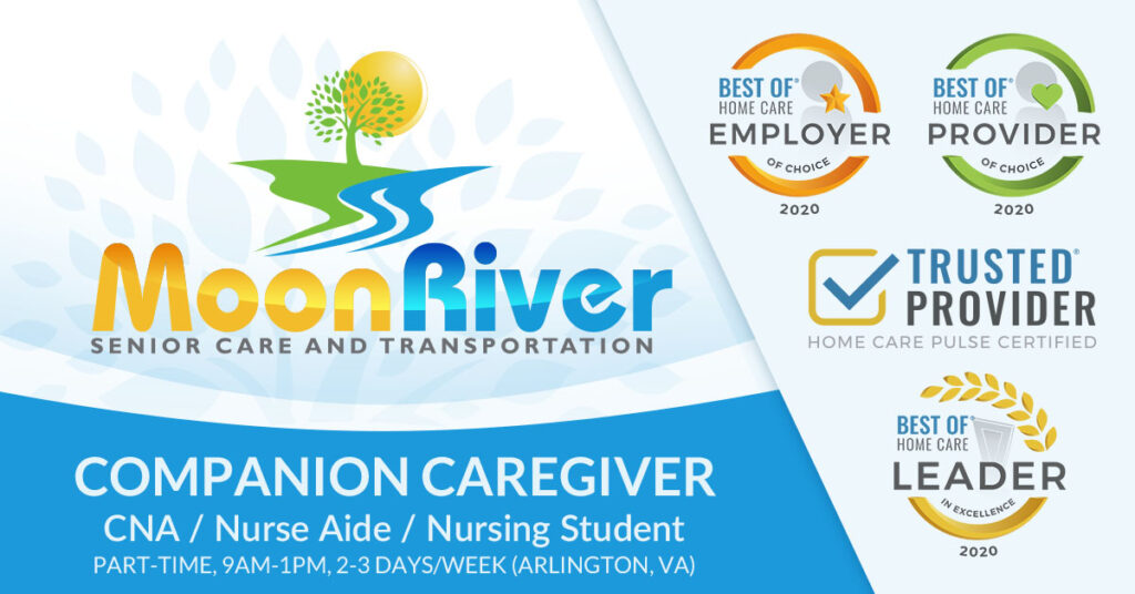 Immediate Part-Time Position, 9am - 1pm, 2-3 days a week for CNAs, Nurse Aides, Nursing Students in Home Care in North Arlington, Virginia.